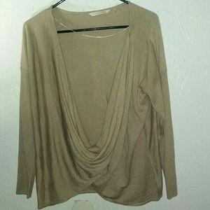 New Soft Surroundings XL Sweater Twisted Drape